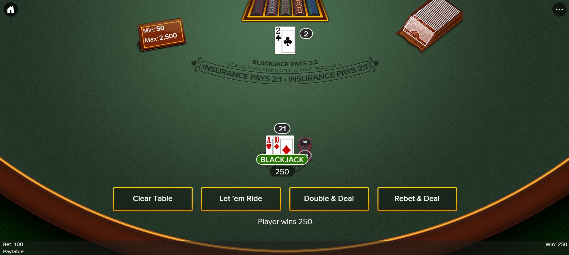 Virgin NJ Online Blackjack