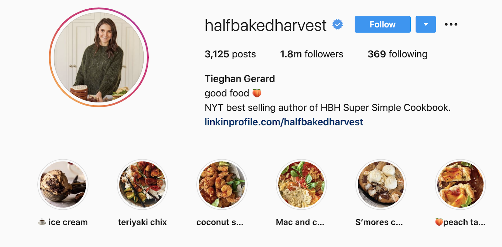 Instagram highlight covers example
