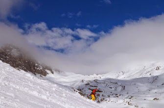 Photo: Paul on the big face of the Balme