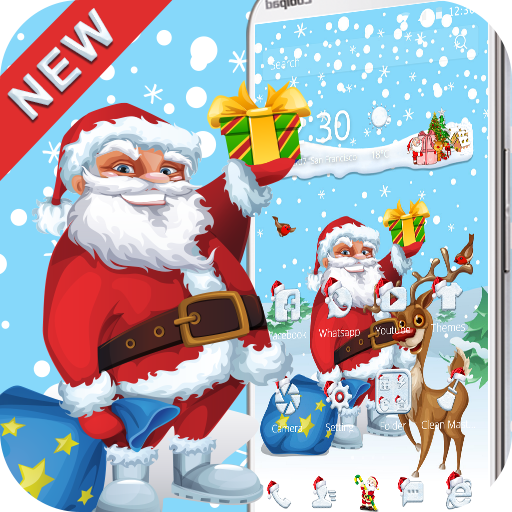 Santa Merry Christmas theme 3D (app)