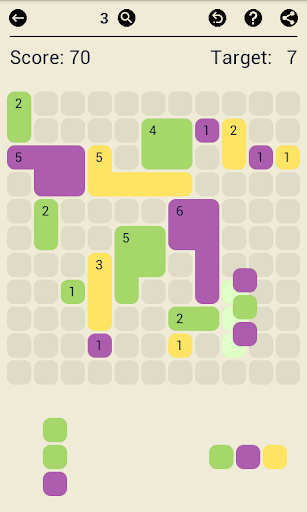 Surface Trimino: increase the area. Casual game - screenshot