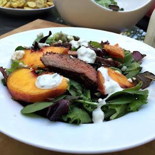 Grilled Steak & Peach Salad