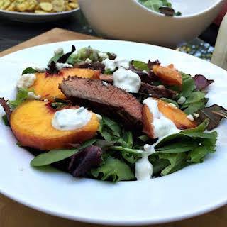 Grilled Steak & Peach Salad.