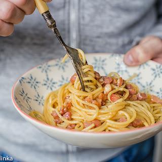 Pancetta and Cheese Carbonara Recipe