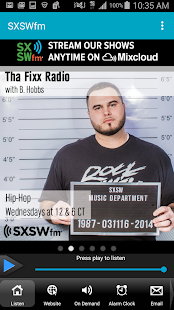 SXSWfm®- screenshot thumbnail