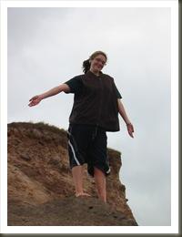 Kristen on cliff