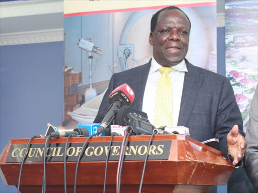 Council of Governors chairman Wycliffe Oparanya in Nairobi on January 16, 2019