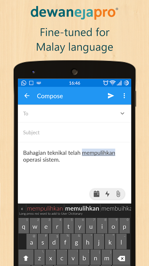 Dewan Eja Pro Malay Keyboard- screenshot