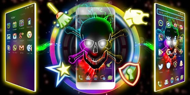 Neon Skull Coo Launcher - náhled