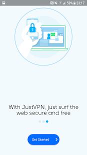 JustVPN - Free Unlimited VPN & Proxy Screenshot