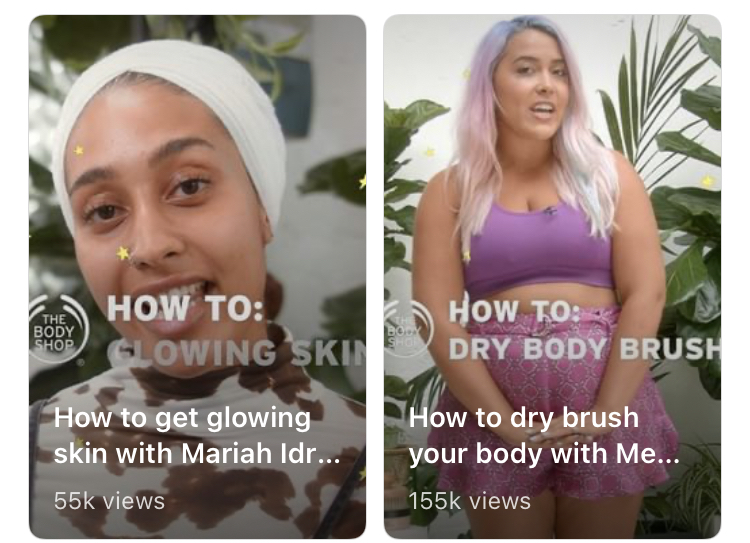 IGTV's on the body shop