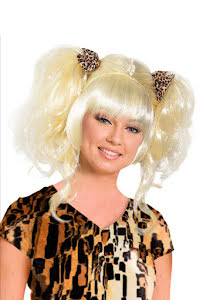 Peruk grottkvinna, blond