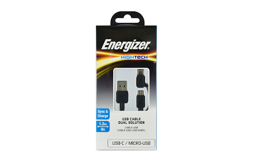 Cáp 2 in 1 Energizer HT Dual Type-C Micro USB 1.2m - C11UBX2CFBK4 (Đen)_3