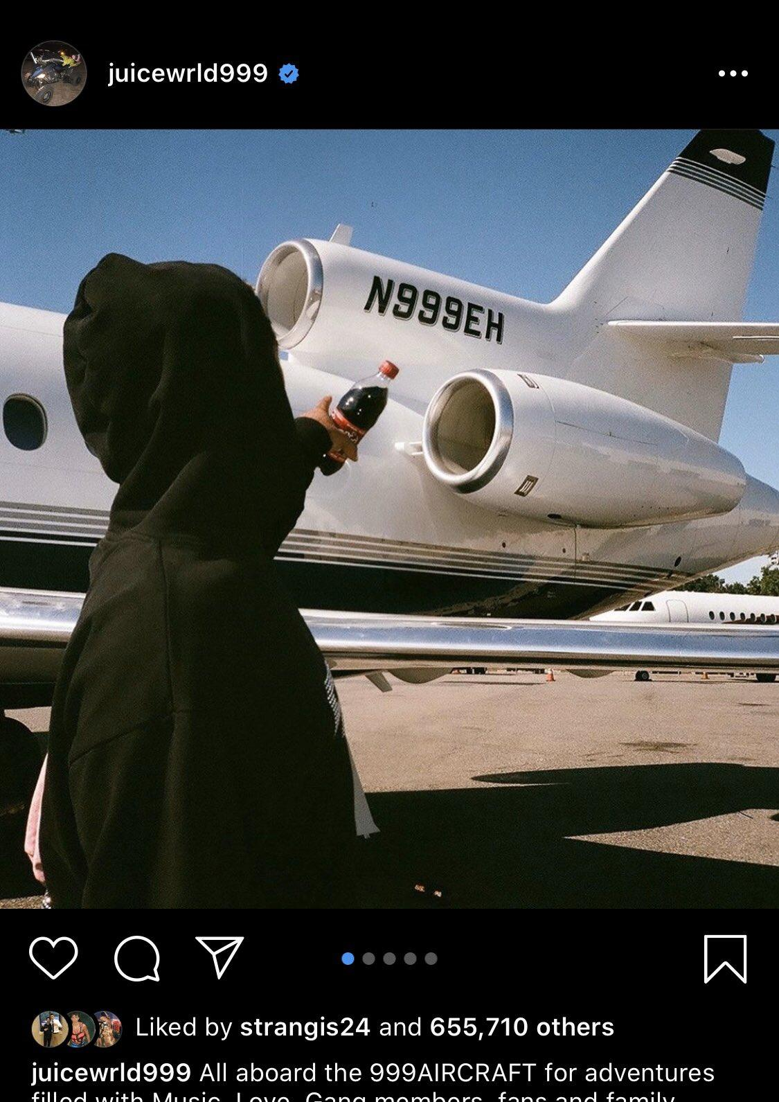 """maddy ottaviano on Twitter: """"so I have thoughts juice world is alive still this is why.. he posted this picture on his Ig of this private jet (1st pic) and then i"""