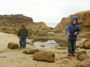 Photo: Clark and Finn Rainy Tide Pools