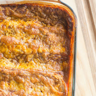 Better-for-You Ground Turkey Enchiladas.