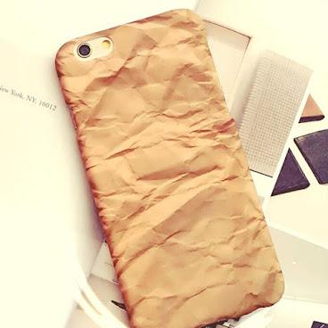 文藝風 牛皮紙浮面磨砂硬iPhone case 手機殻 #852#hkig#殼#電話硬殼