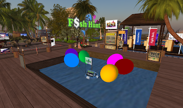 Photo: Fish Hunt - Join the largest fishing and fun community in SL, = http://maps.secondlife.com/secondlife/Gala/200/242/1