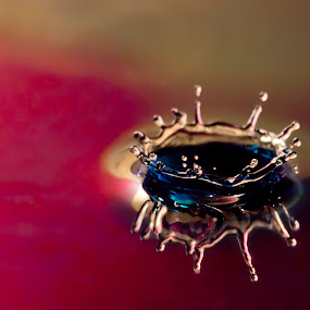 Empty Crown by Dov Plawsky - Abstract Water Drops & Splashes ( abstract, macro, crown, water drop )