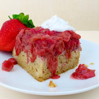 Paleo Strawberry Rhubarb Upside Down Cake.
