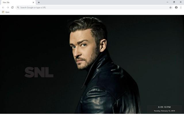 Justin Timberlake New Tab Theme