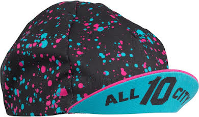 All-City 10th Anniversary Cycling Cap: Black/Multi-color, One Size alternate image 1