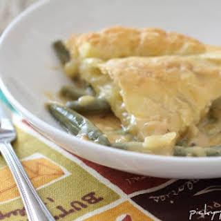 Cheesy Bacon Green Bean Casserole Pot Pie.