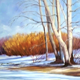 Winter Wonder 7 by RMC Rochester - Painting All Painting ( random, art, painting, nature, snow, abstract, landscape, colors )