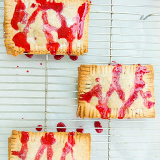 Vegan Chocolate Fudge Pop Tarts with Raspberry Glaze
