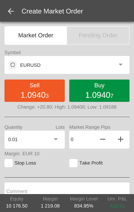 ICM Capital cTrader- screenshot