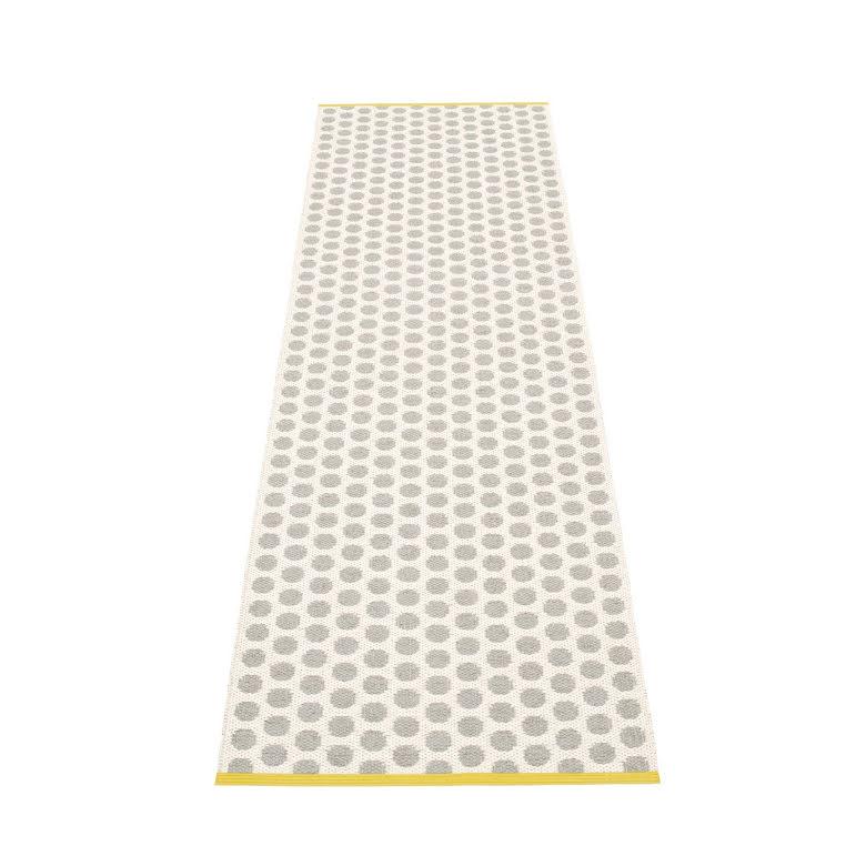 Noa plastmatta Warm grey/Vanilla/Mustard edge