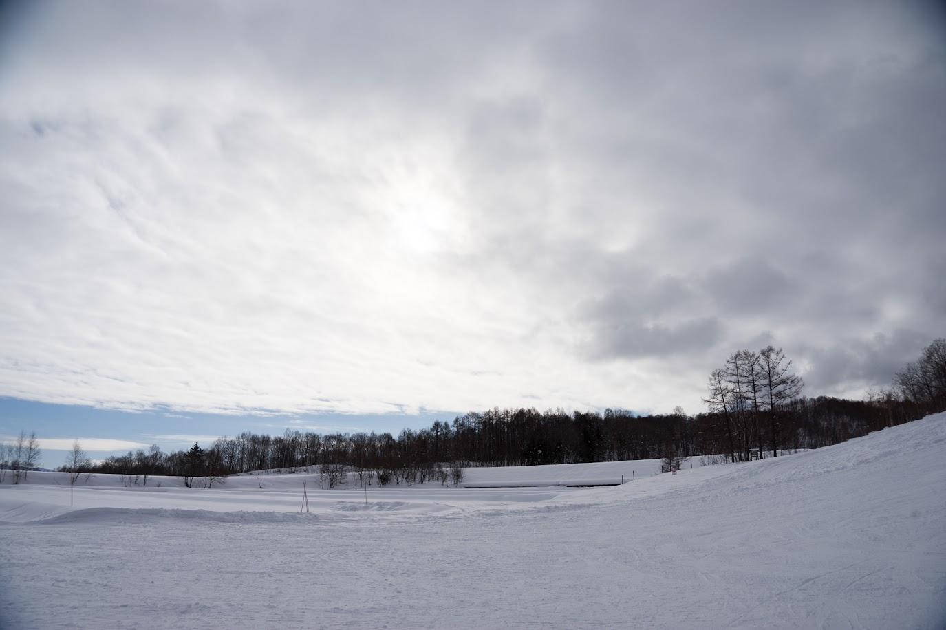 町営スキー場周辺の風景
