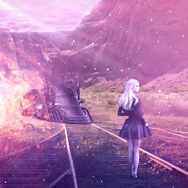 We'll Meet At Another End... by Ilkgul Caylak - Digital Art People ( nature, photoshop, girl )