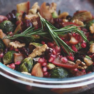 Warm Brussels Sprout Salad with Apples & Pomegranate Recipe