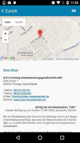 android N B A Freising Steuer App Screenshot 4