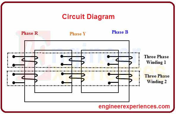 general Circuit diagram of three phase transformer
