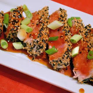 Teriyaki Tuna with Volcano Sauce.
