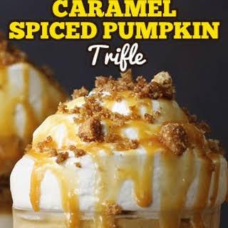 Caramel Spiced Pumpkin Trifle.