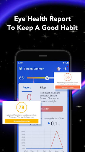 Screen Dimmer - Night Reading Screen for EyeCare 1.1.5 screenshots 3