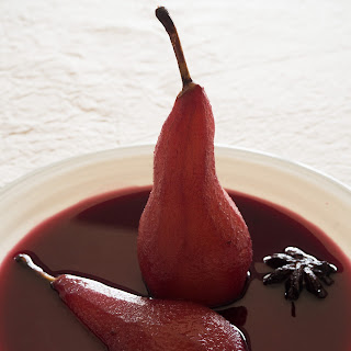 Pears Poached in Spiced Red Wine Recipe