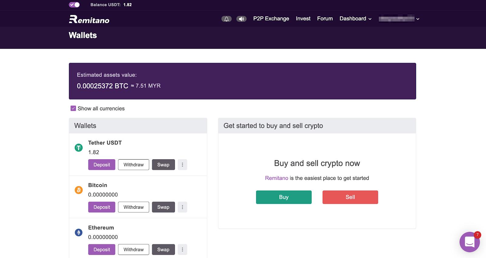 Wie man Bitcoin von Blockchain nach Remitano schickt