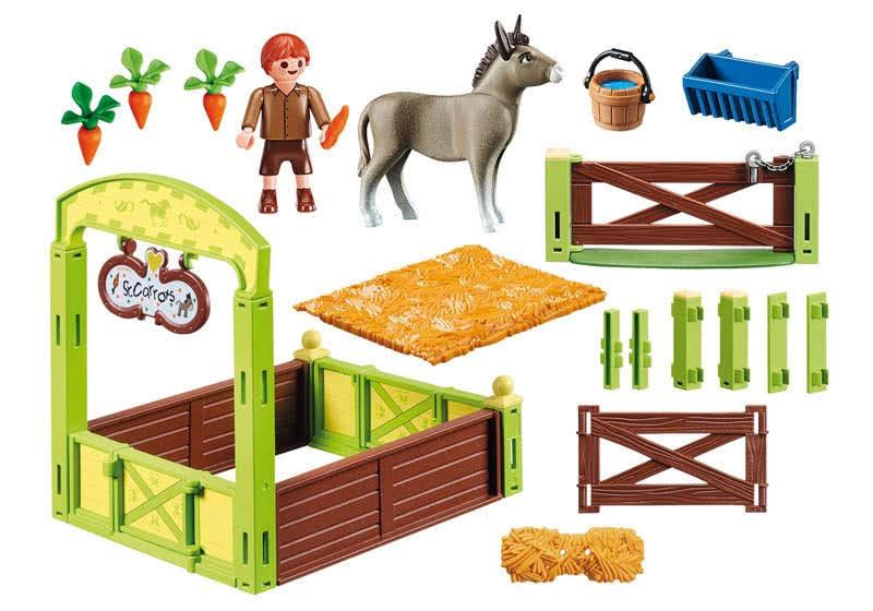 Contenido real de Playmobil® 70120 Establo Traski y Señora Zanahoria