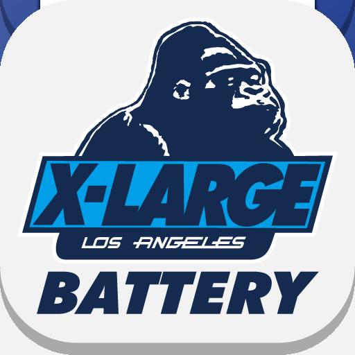 エクストララージ(XLARGE)-グラフィック電池-無料 個人化 LOGO-玩APPs