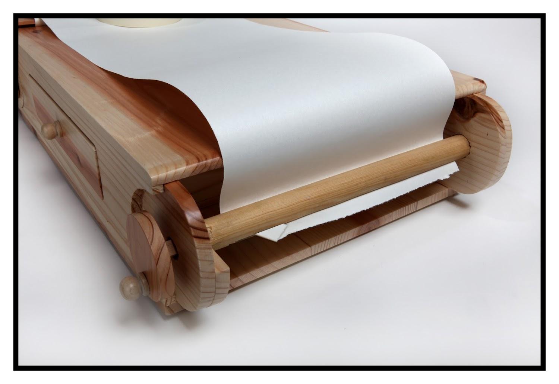 Wood-E tekendoos - oprolfunctie - papier vervangen