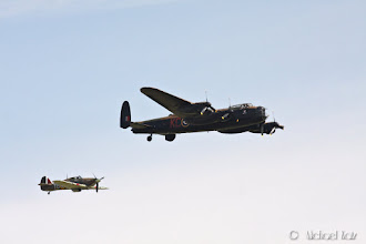 Photo: Avro Lancaster and a Supermarine Spitfire