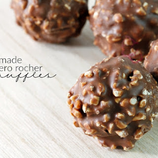 Homemade Ferrero Rocher Hazelnut Truffles.