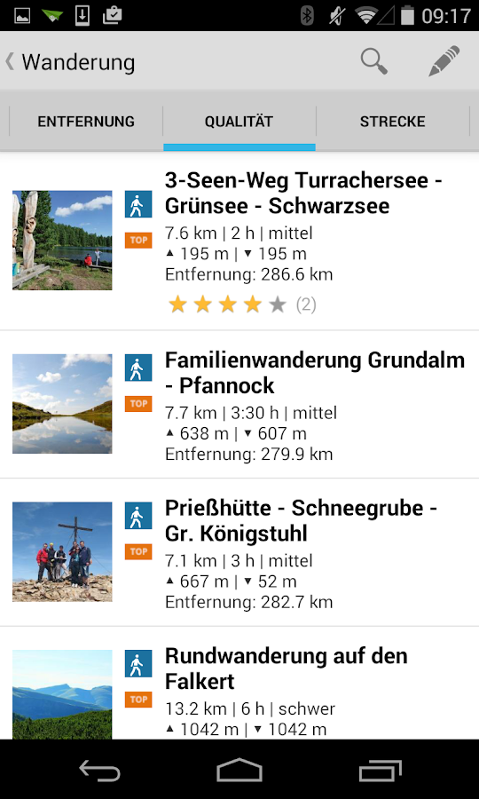 Tourenguide Bad Kleinkirchheim - screenshot