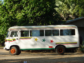 Photo: A typical passenger bus in Yangon