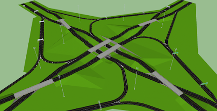 Photo: A  Diverging Windmill Interchange I built. No in use in the real world. But in use in my project at the Brexx Nirpaw Interchange in Brexxie City, PA  Brexx Nirpaw Interchange : - Interstate 79 (Cute Brexx Nirpaw - Pittsbrurgh Turnpike) - Interstate 80 (Cute Screwball & Prince Mothball Exwy & Beastboy Exwy)