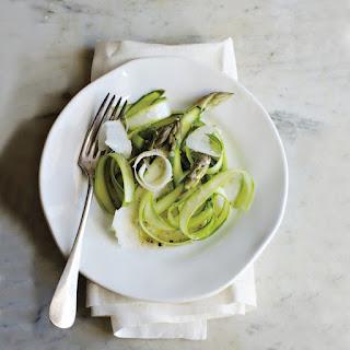 Shaved Asparagus with Parmesan Vinaigrette.